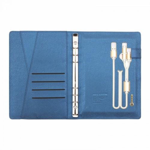 Ежедневник с PowerBank, USB-выходами и флешкой 16 Gb Blue-4