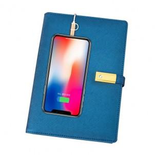 Ежедневник с PowerBank, USB-выходами и флешкой 16 Gb Blue-1