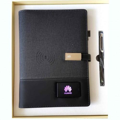 Ежедневник со встроенным PowerBank и системой беспроводной зарядки Huawei Black-6