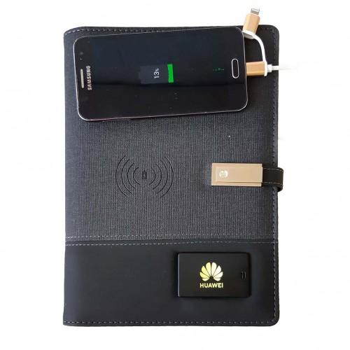Ежедневник со встроенным PowerBank и системой беспроводной зарядки Huawei Black-1