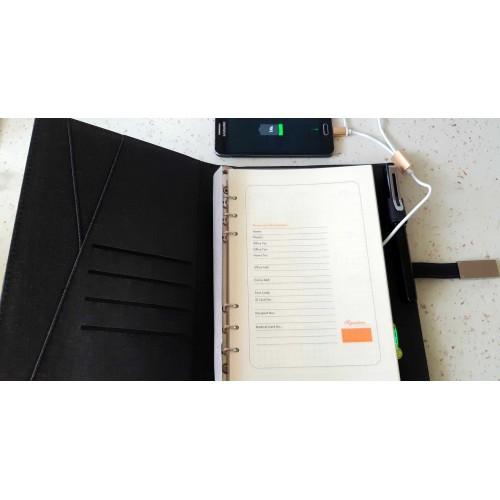 Ежедневник со встроенным PowerBank и системой беспроводной зарядки Huawei Black-4