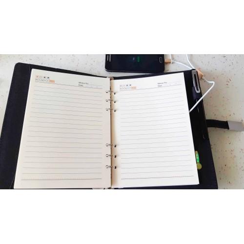 Ежедневник со встроенным PowerBank и системой беспроводной зарядки Huawei Black-2