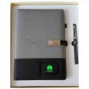 Ежедневник с системой беспроводной зарядки, PowerBank, USB и флешкой Huawei Gray-3