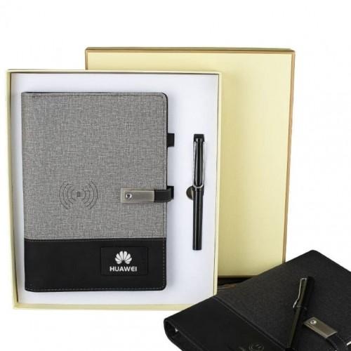 Ежедневник со встроенным PowerBank и системой беспроводной зарядки Huawei Gray-6
