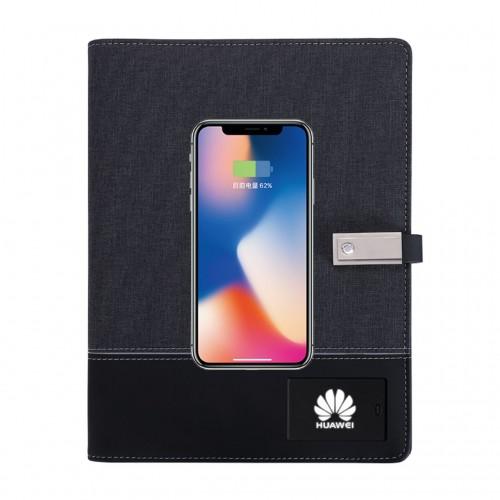 Ежедневник со встроенным PowerBank и системой беспроводной зарядки Huawei Black-3