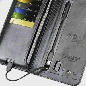 Портмоне со встроенным Powerbank и системой беспроводной зарядки Black-1