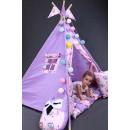 """Детский вигвам """"Бонбон Совы"""" фиолетовый с подушками-3"""
